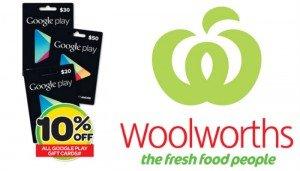 Woolies Google Play Gift Vouchers