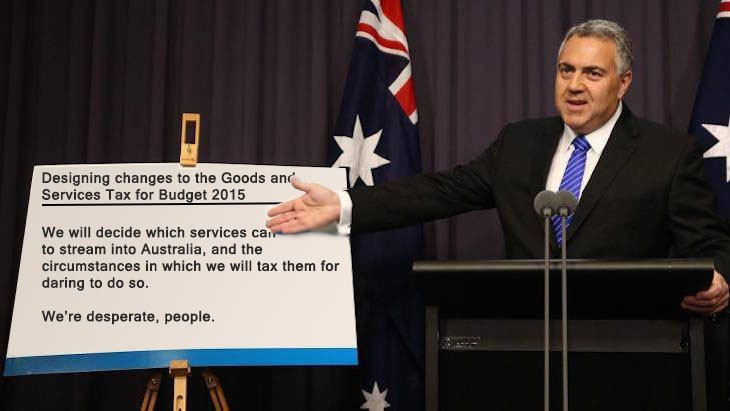 joe hockey gst