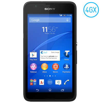 Sony announces the Xperia E4g on the Telstra 4GX network