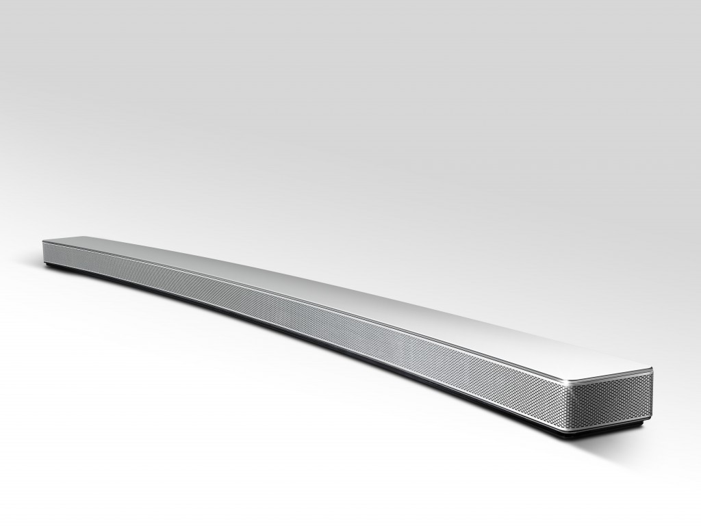 LG shows off their newest Google Cast enabled Music Flow speaker the HS8 curved soundbar