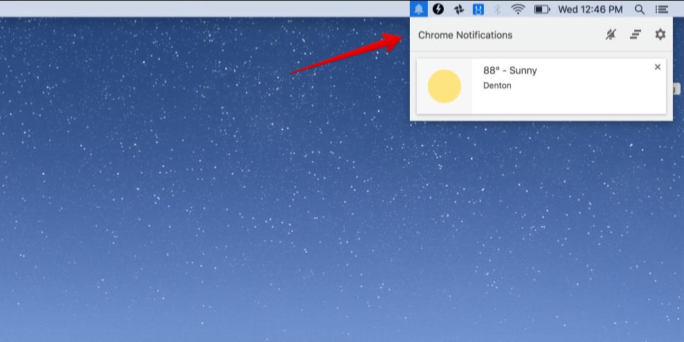 Google Chrome Notification