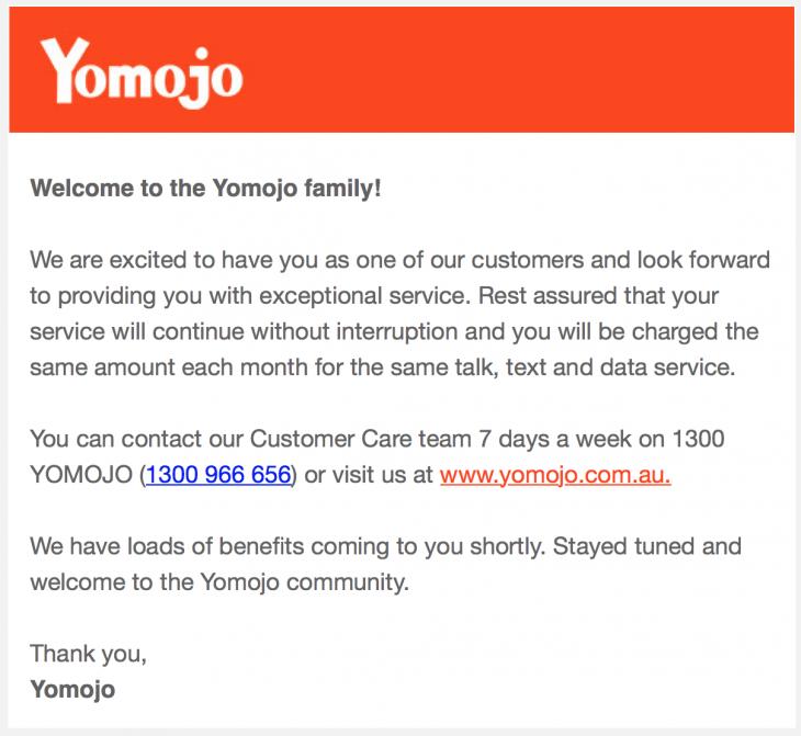Yomojo Welcome