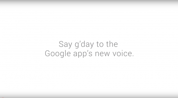 Google's new Australian voice can really belt out a mean tune and also understand a lot of new Aussie terms