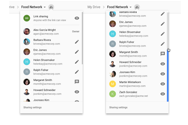 Drive Shared People icon menu
