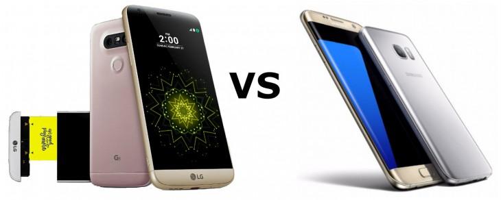 LG G5 vs Galaxy S7 Galay S7 Edge