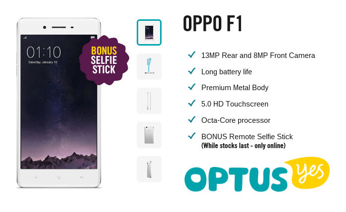 Oppo F1 at Optus