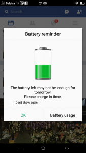 R7s Battery Reminder
