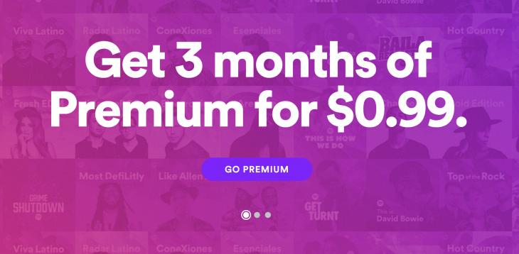 Spotify Premium 99c