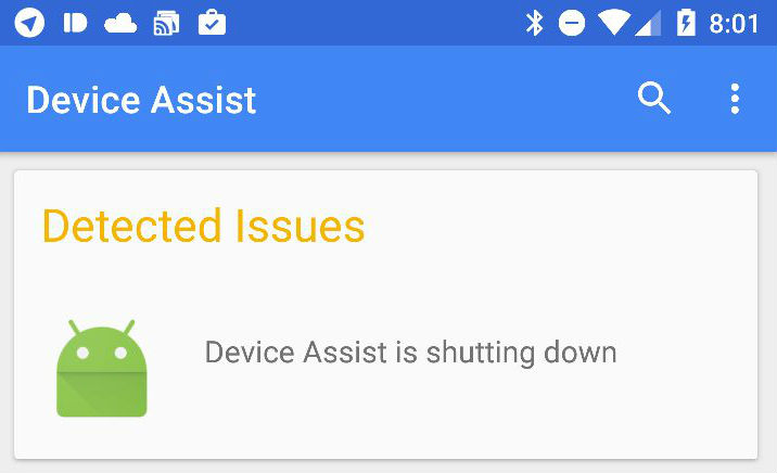 Device Assist - Shutting down