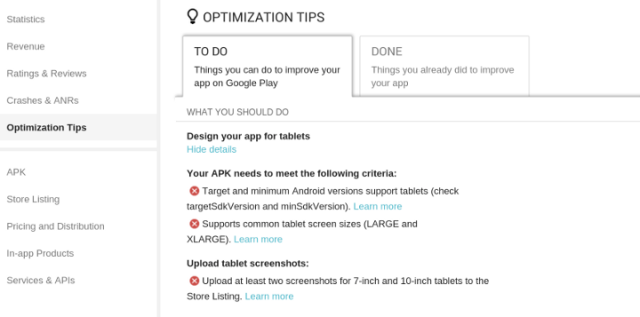 Tablet App Tips