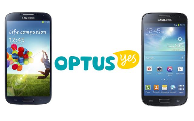 SGS4 and SGS4 Mini Optus