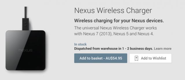 Nexus Wireless Charger Australia