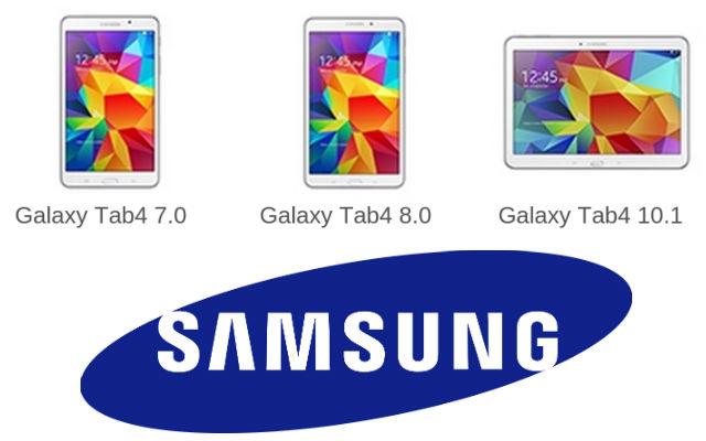 Samsung Galaxy Tab4 range