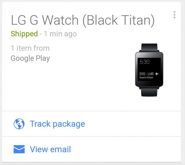 LG G Watch - Google Now