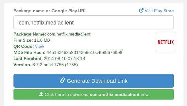 APK Downloader Generated Link