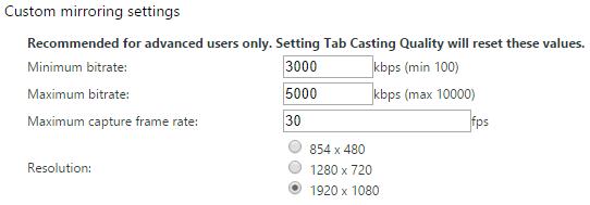 Chromecast Beta Options