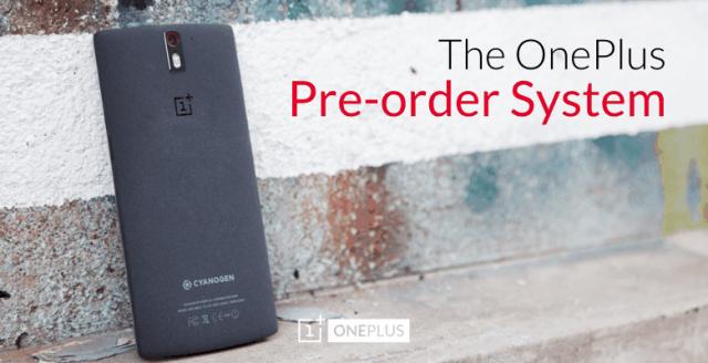 OnePlus Pre-Orders