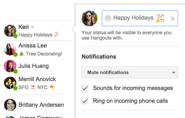 hangouts for gmail