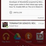 Notification terminator