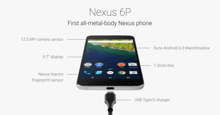 Google announces the Nexus 6P with Huawei with 5.7″ QHD resolution screen and 'Nexus Imprint'