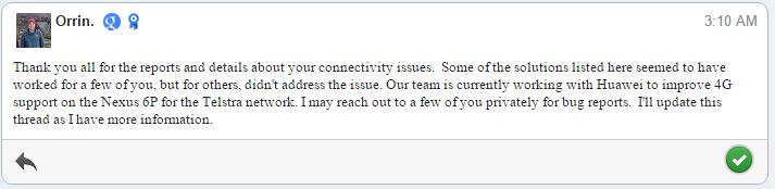 Google Nexus 6P issues