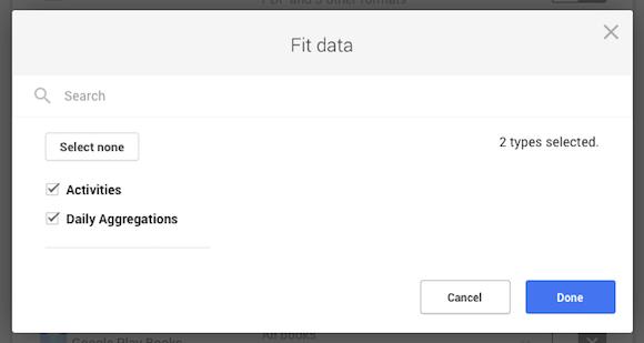 Google Fit - Export