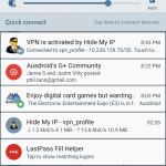 Hide my IP notification