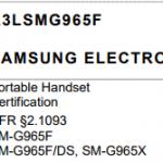 Samsung S9 _ FCC