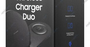 Dual wireless charger to charge Samsung Galaxy Note 9 and Samsung Galaxy Watch