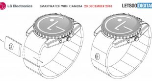 LG files new patent demonstrating camera in a smartwatch band