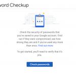 Google pasword checkup