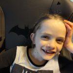 Jenny in batman chair