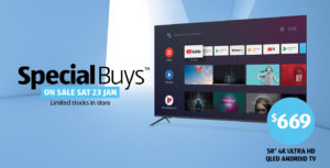 ALDI selling 2 smart Android TV powered TV's next Saturday 23rd Jan